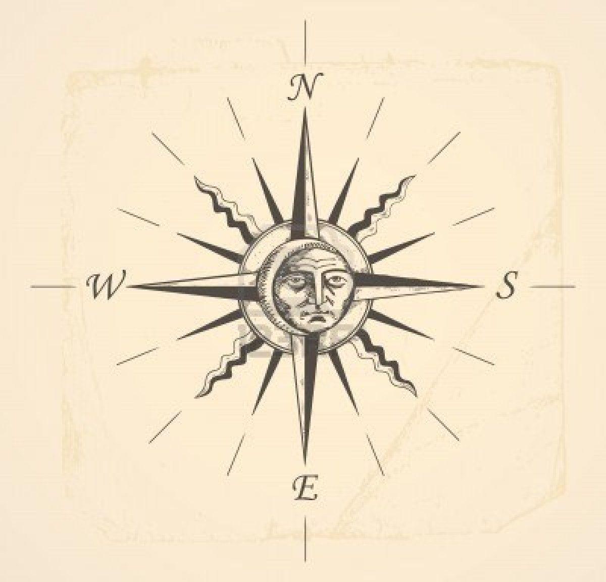 Vintage Venom Tattoo Thoughts: Vintage Compass Tattoo