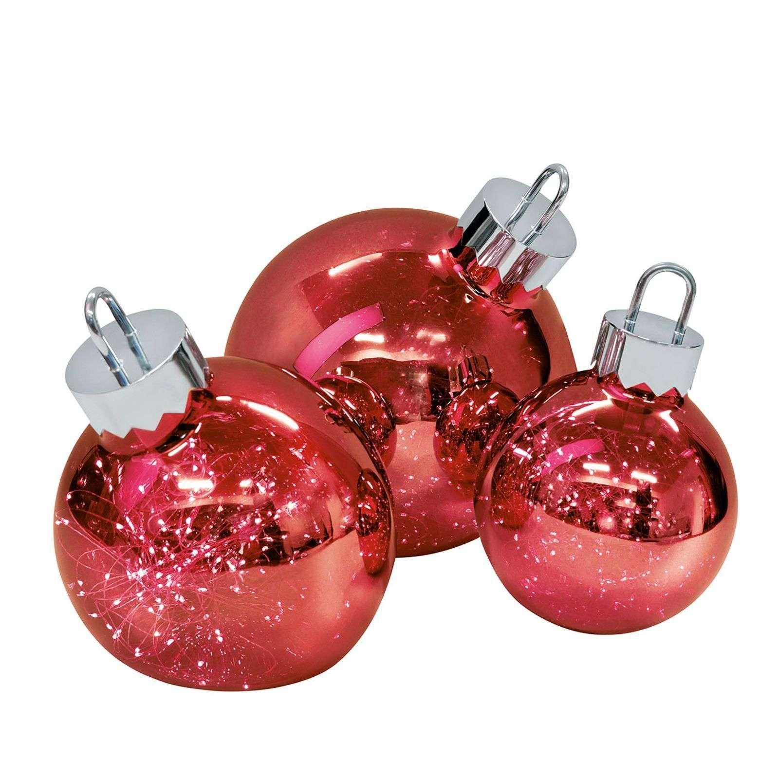 Lampe décorative Ornament, rouge foncé, Ø 20 cm en 2020 | Boule en