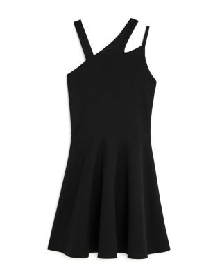 Sally Miller Girls' Asymmetric Cutout Dress - Big Kid - Black #sallymiller