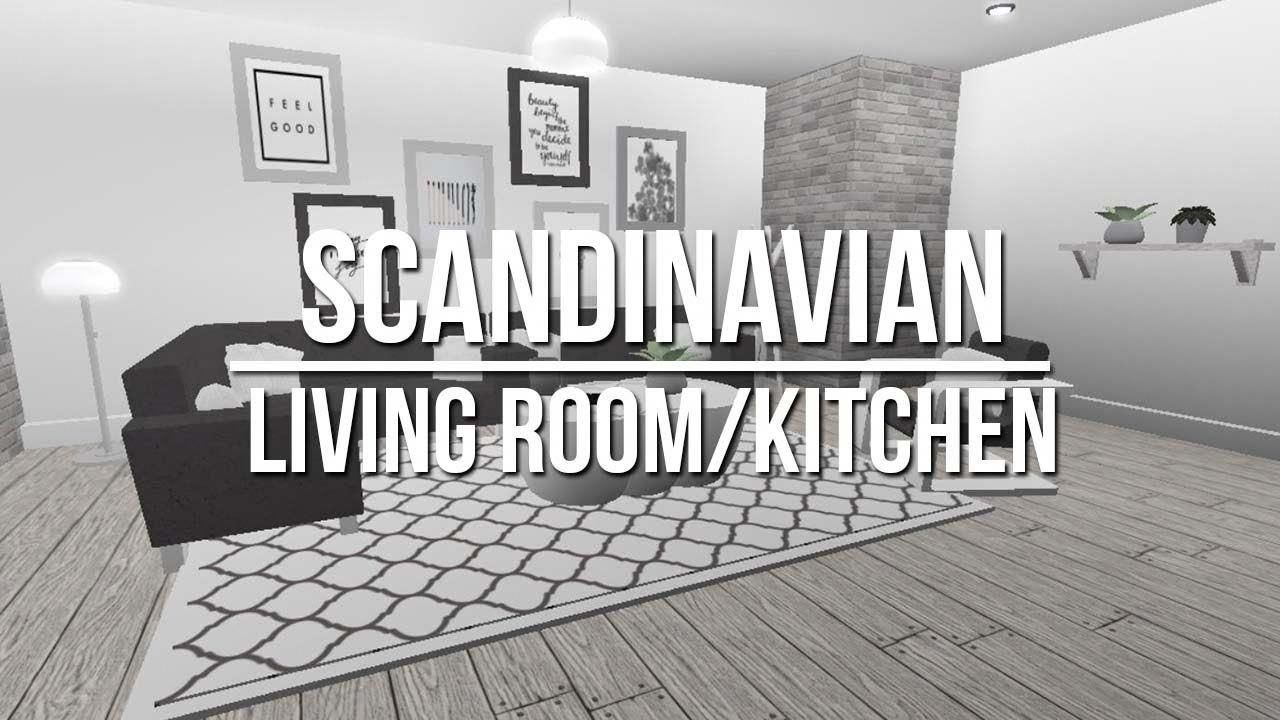 Roblox welcome to bloxburg scandinavian living room kitchen beautiful decor interior decoration ideas for drawing also rh in pinterest
