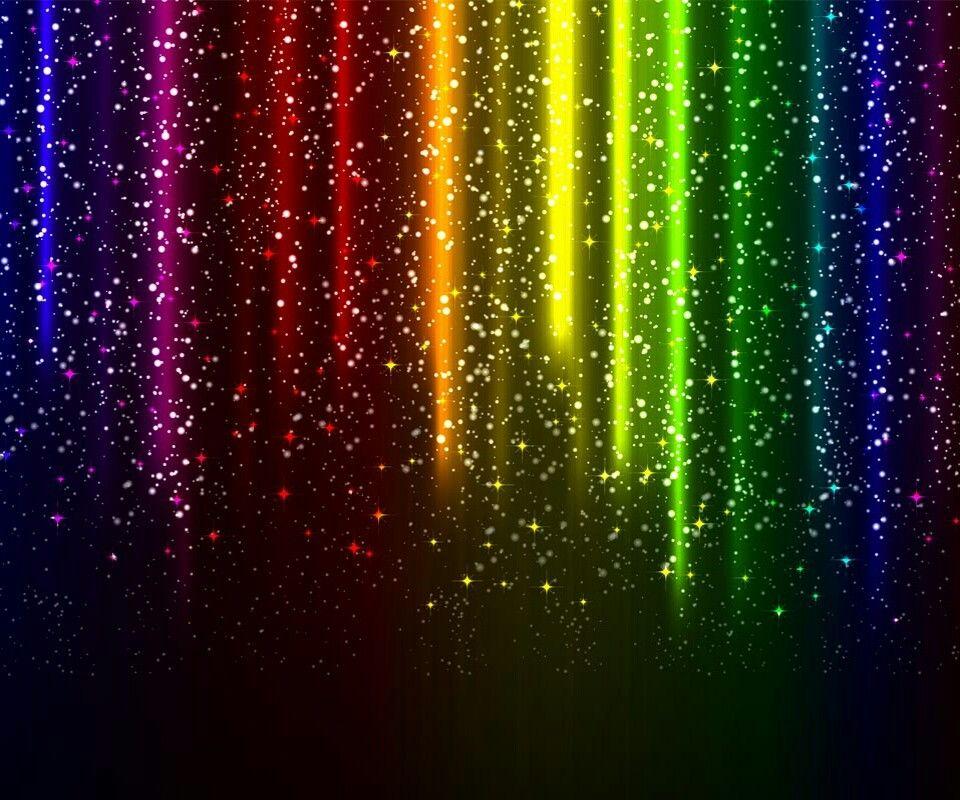 Glitter rainbow Rainbow wallpaper, Glowing background
