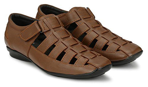 0fc1019fd9bc Buy Afrojack Men s 100 % genuine leather sandals online at low price in  India on Amazon.in. Huge collection of branded shoes.