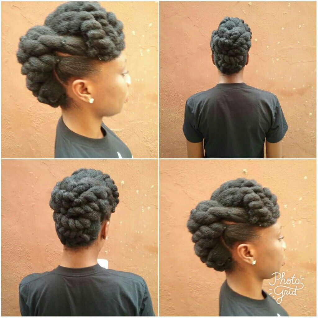 Natural Hair Updo With Flattwists Natural Glory Natural Hair