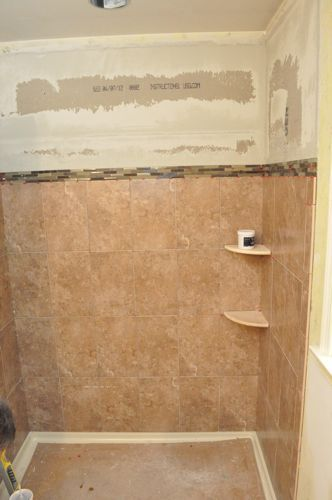 How To Tile A Bathroom Shower Walls Floor Materials 100 Pics Pro Tips Bathroom Shower Walls Primitive Bathrooms Shower Wall