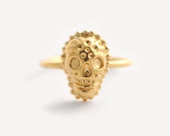 Skull Ring Women Gold Skull Ring Dia De Los Muertos Memento Mori