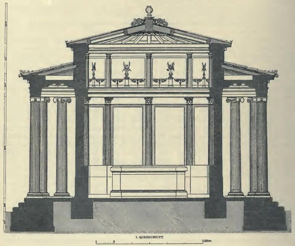 PHILIPPEION, Olympia, Greece - ΦΙΛΙΠΠΕΙΟΝ, Αρχαία Ολυμπία Representation of Philippeion by Friedrich Adler (architect) (1827 – 1908)