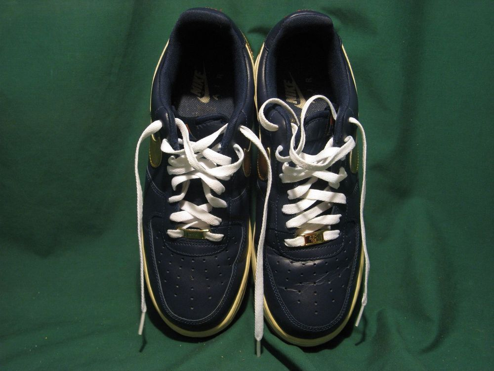 competitive price 726dd b9900 NIKE AIR U.S.A Low Cut Olympic Blue WGold Size 10...Excellent Condition!!!  (eBay Link)