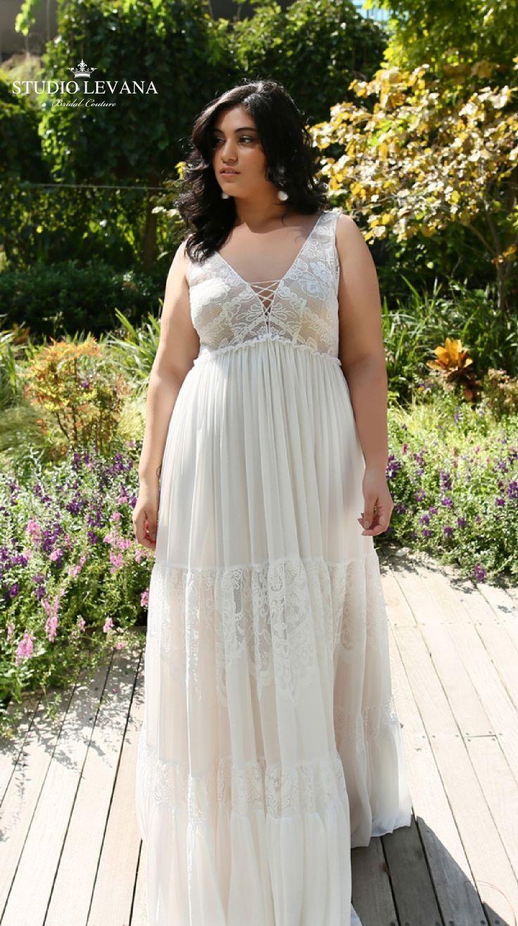 Boho Chic Plus Size Wedding Gown With Layered Skirt Alena Studio Levana Amazing Wedding Dress Plus Size Wedding Gowns Beach Wedding Dress Boho [ 1316 x 736 Pixel ]