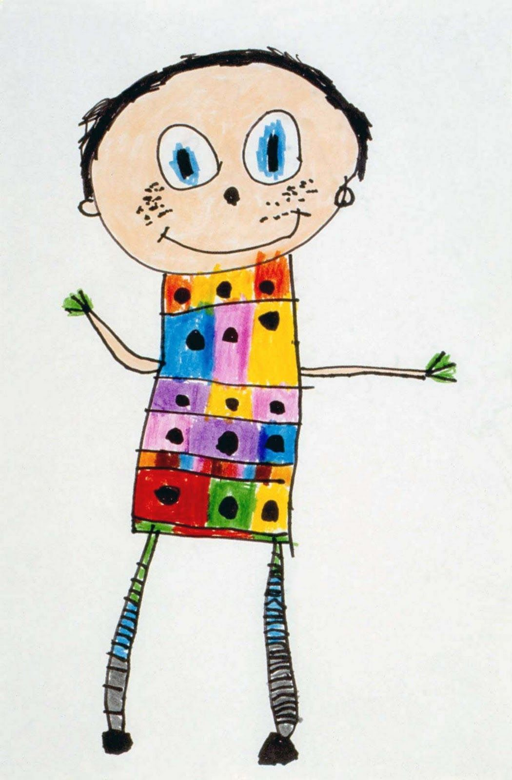 How To Teach A Child To Draw A Self Portrait Exercises To Make Them