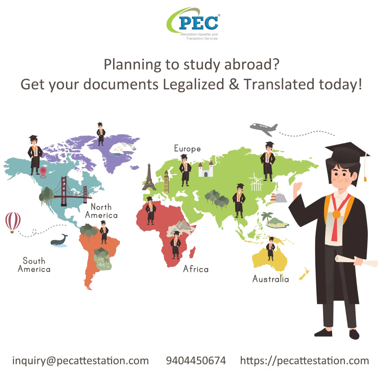 Planning To Study Abroad? Are Your Educational Documents