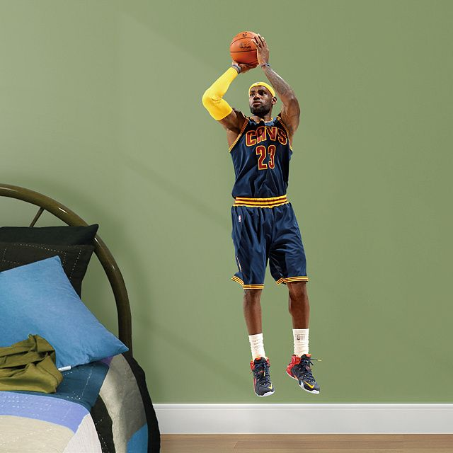 b412362dd205 LeBron James - Fathead Jr Fathead Jr – Peel   Stick Wall Graphic ...
