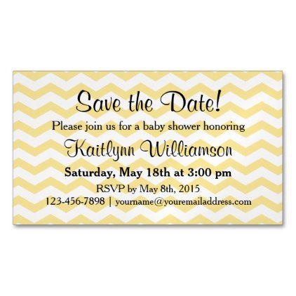 Save The Date Baby Shower Magnetic Card Reminder Zazzlecom Save