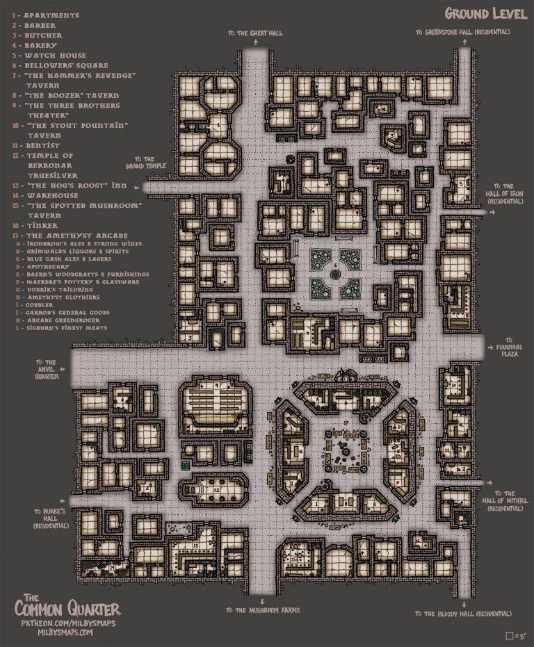 Dwarven City Map : dwarven, Milby's, Dwarven, City,, Fantasy, Dungeon