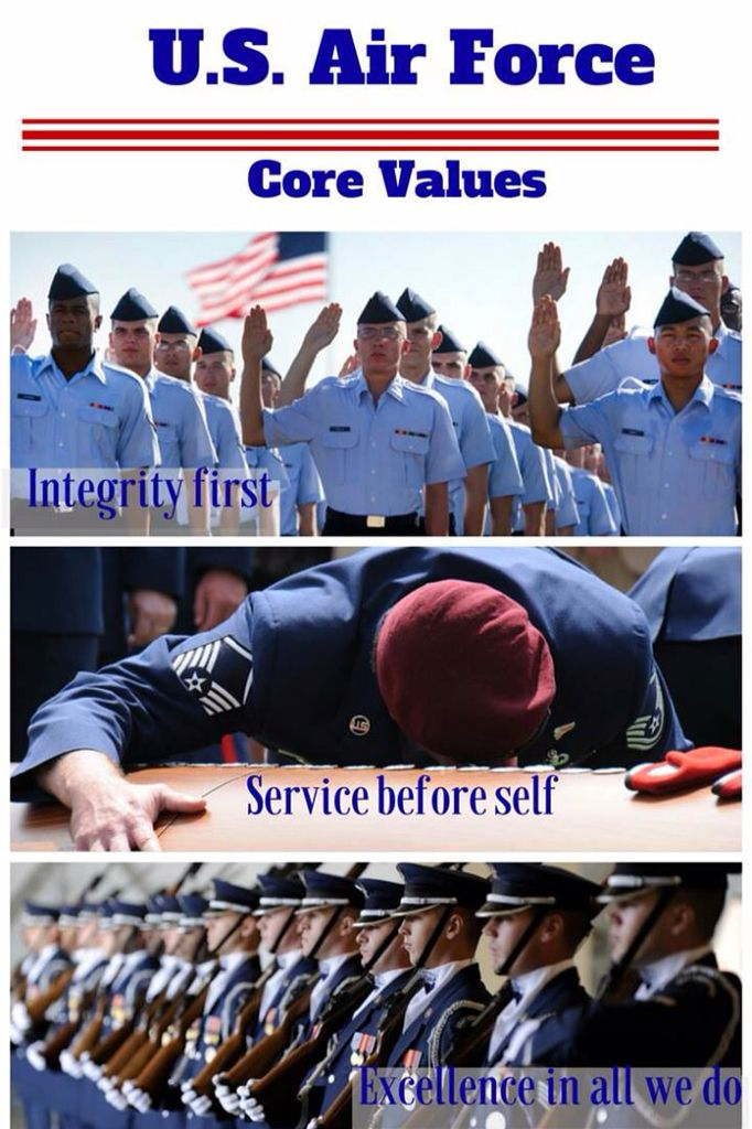 The Air Force Core Values are words to live by  #mantra