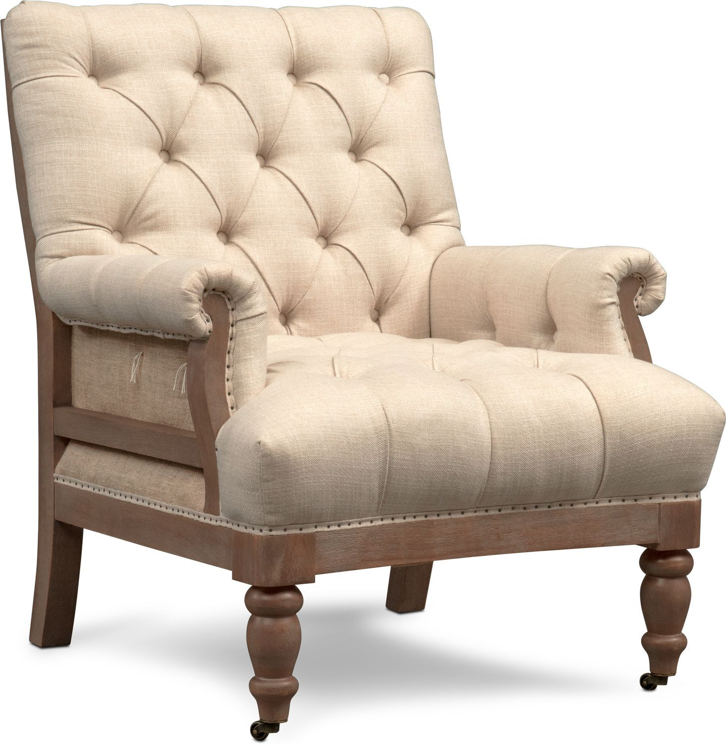 Best Bridget Accent Chair Cream Value City Furniture 400 x 300