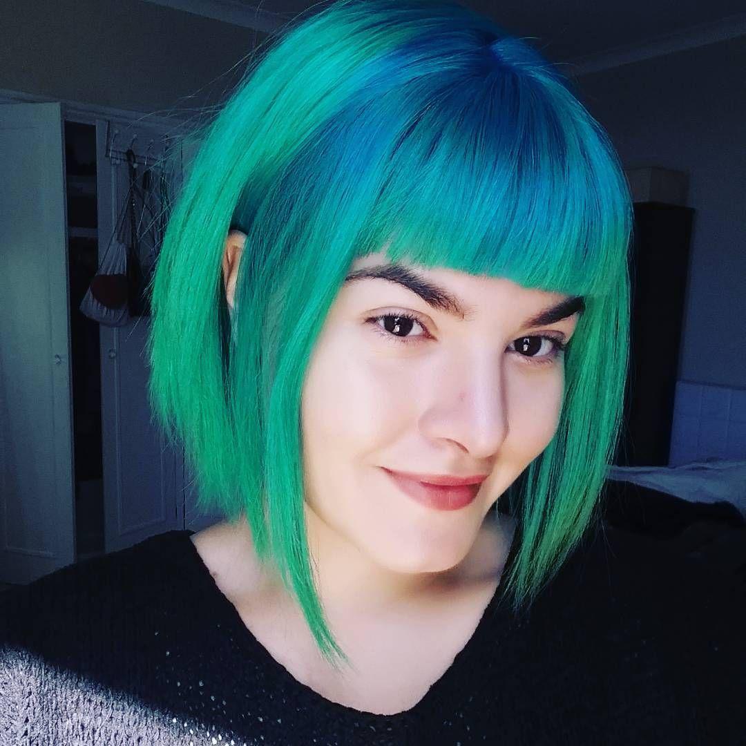 Green u blue hair colourful hair pinterest hair green and blue