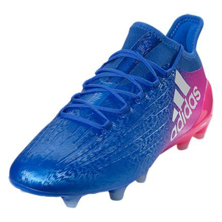 reputable site 0fda4 84f29 adidas X 16.1 FG (Blue White Shock Pink)