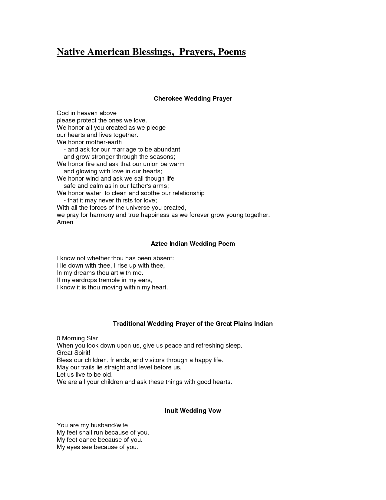 Cherokee Love Poems Native American Wedding
