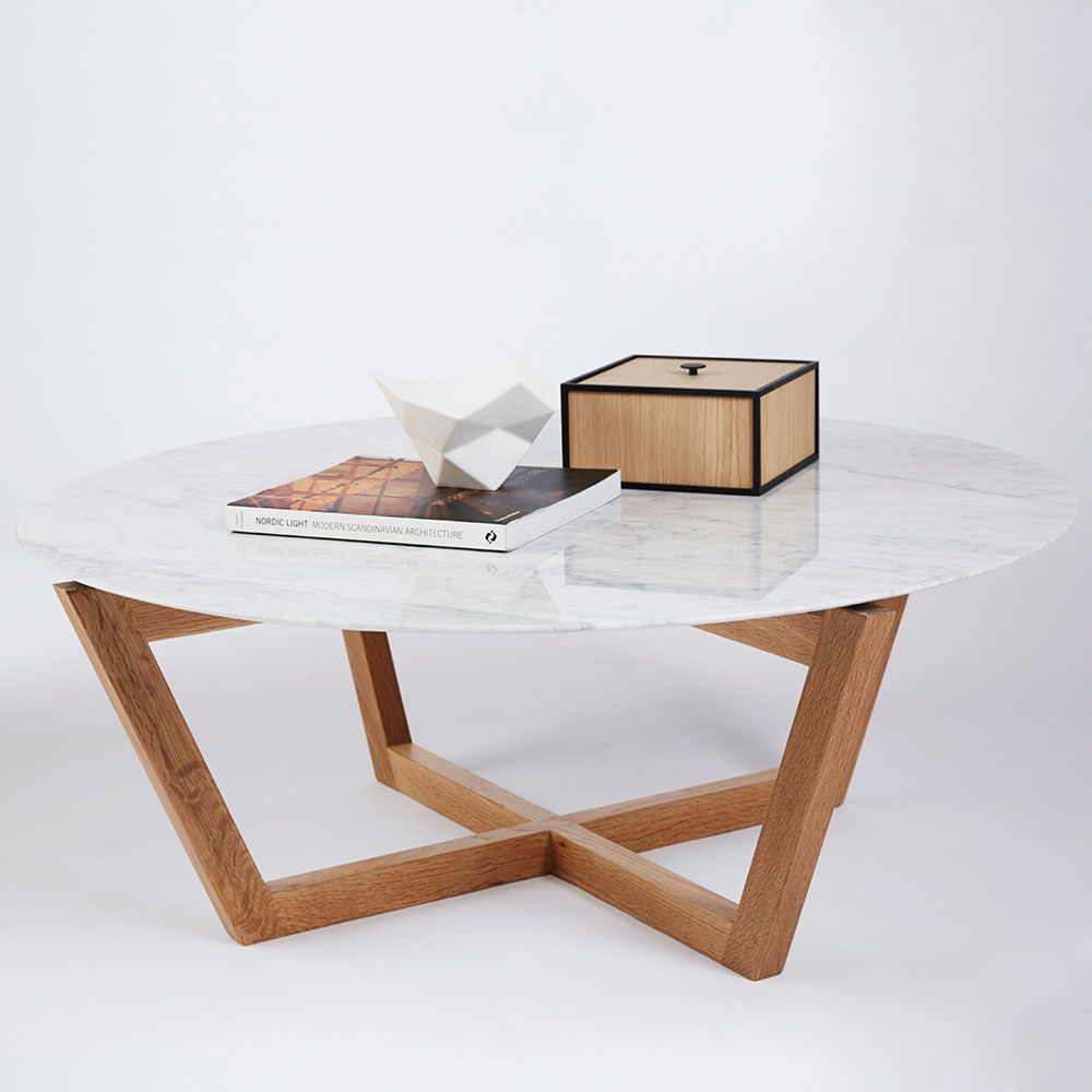 This Modern Designer Round Marble Top Coffee Table And Accent
