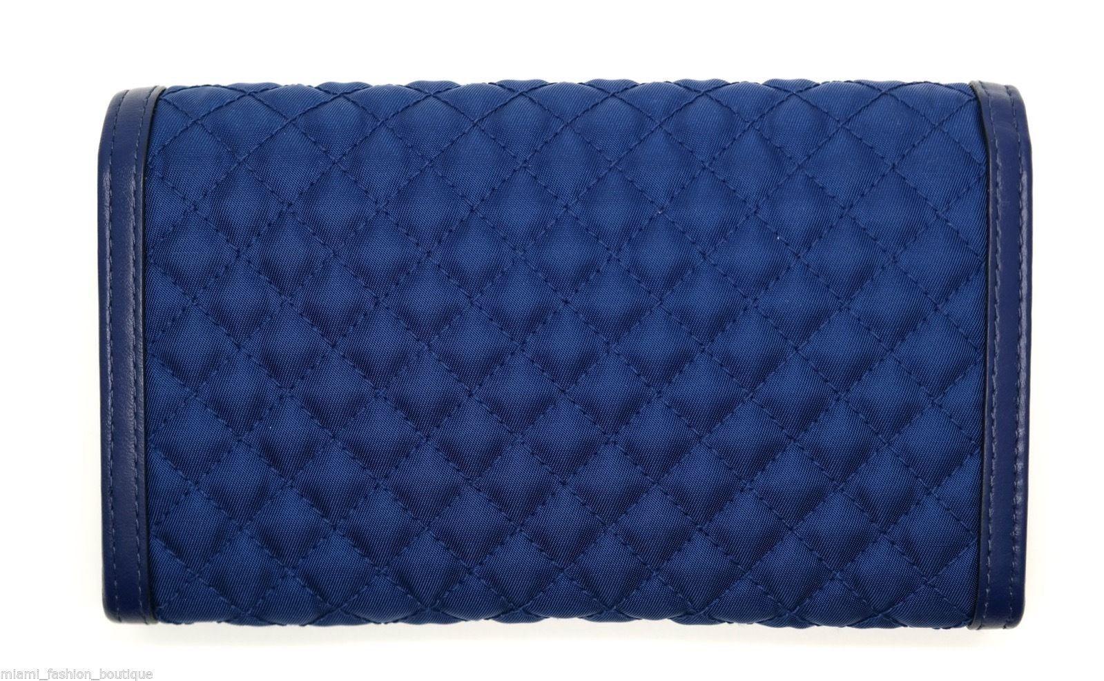 edf7d0ac5d9b Prada Cross Body Bag Messenger Clutch Wallet Quilted Nylon Blue New $349.0