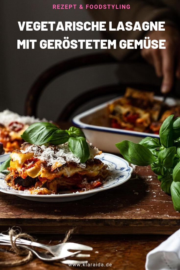 Rezept für eine vegetarische Lasagne mit geröstetem Gemüse ...