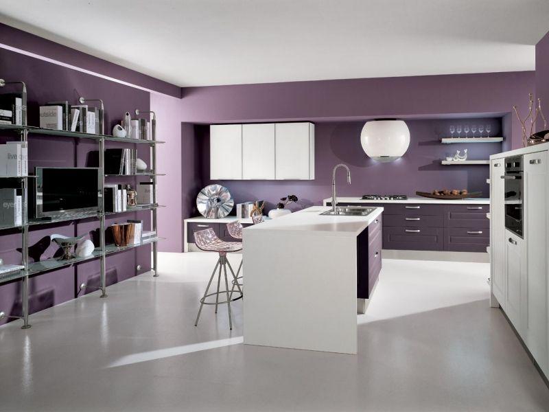 Küchenwand in Lavendel streichen - Gestaltungsidee  Farbe in - küche streichen welche farbe
