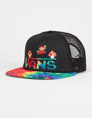 48667be6c VANS x Nintendo Tie Dye Mario Womens Trucker Hat Multi | NiNTENDO ...