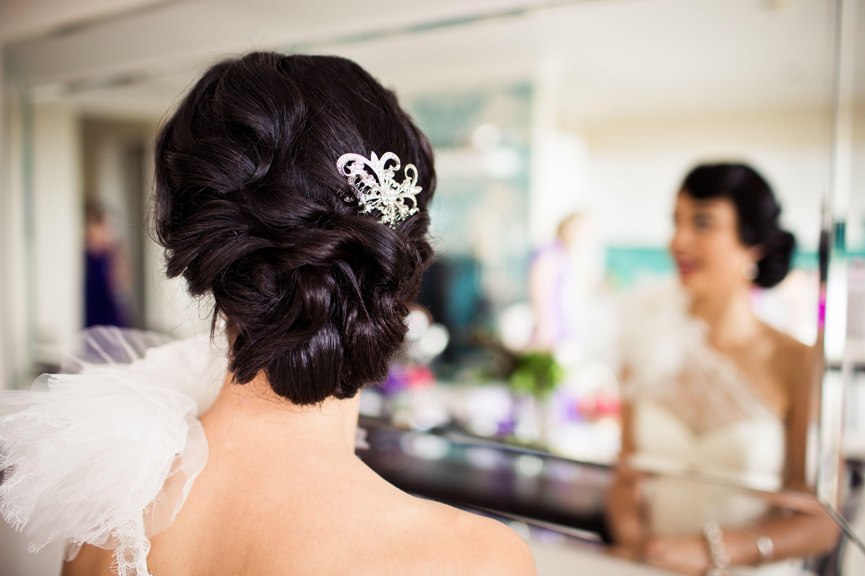 Bridal hair side updo vintage wedding hair styles pinterest