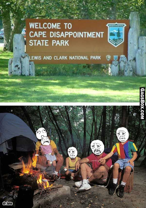 i love the smell of disappointment in the morning #funny #lol #park #names #signs #meme