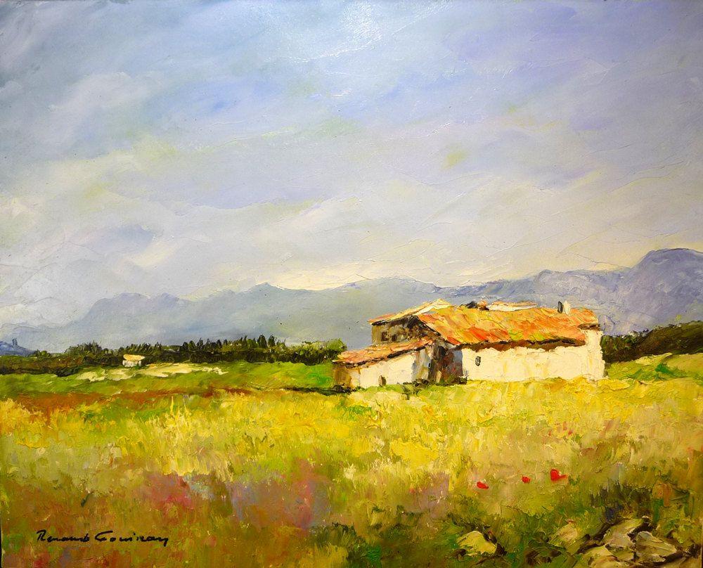 Peinture à l\'huile, Paysage de Provence, Drôme provençale, Art ...