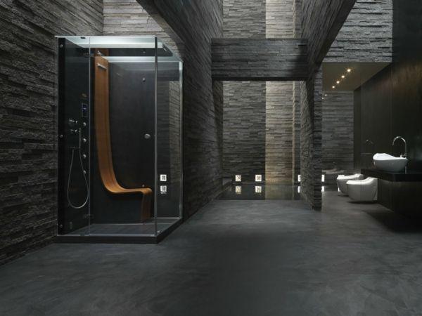 Ein Luxusgefuhl Herrscht Im Schwarzen Badezimmer Design Traumhaft Badezimmer Https Www Amazo Schwarzes Badezimmer Badezimmer Design Badezimmer