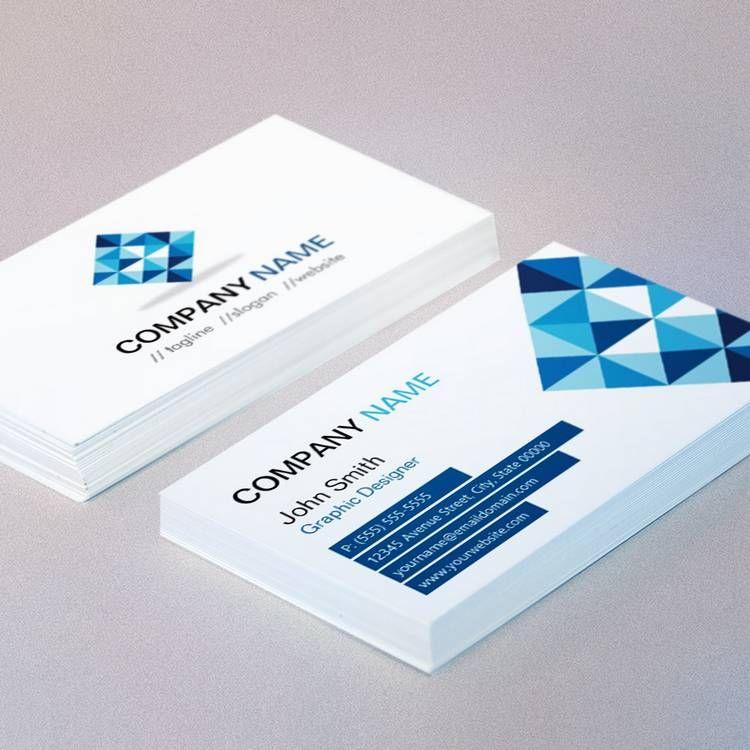 Designer Contemporary Diamond Shape Pattern Business Cards | Custom ...