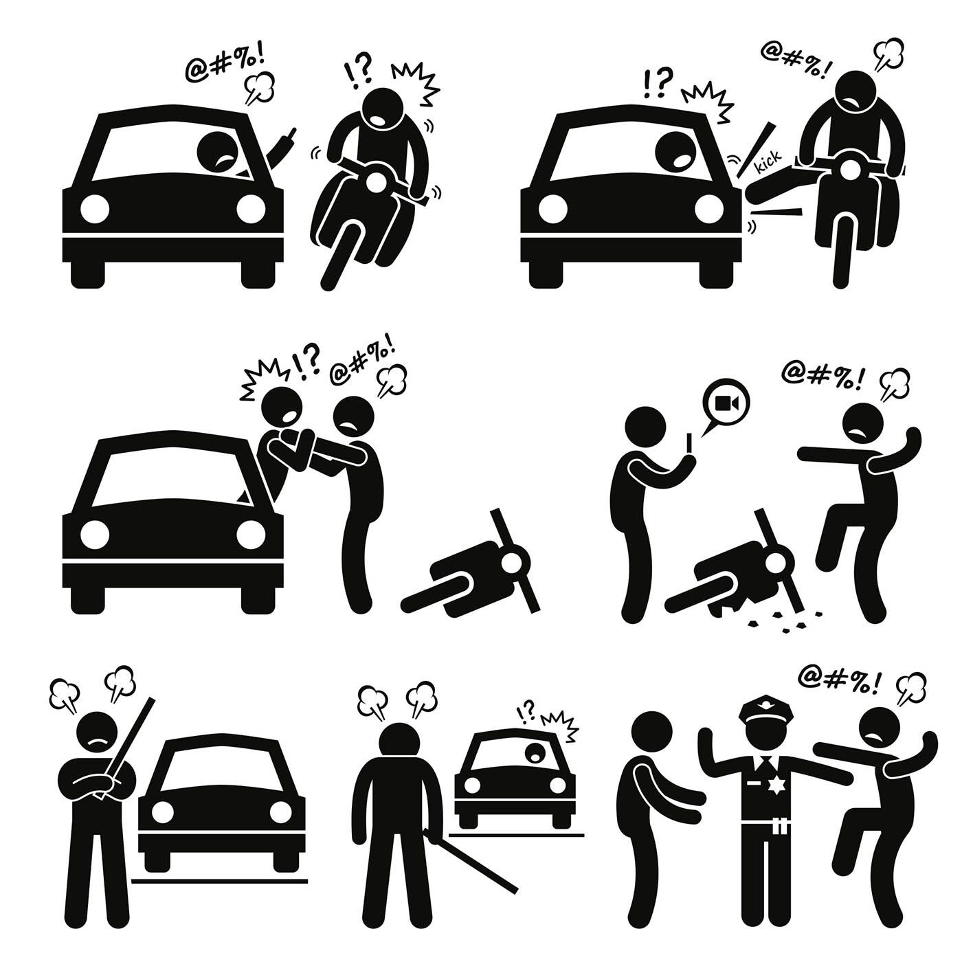 Ride Away Safely From Road Rage