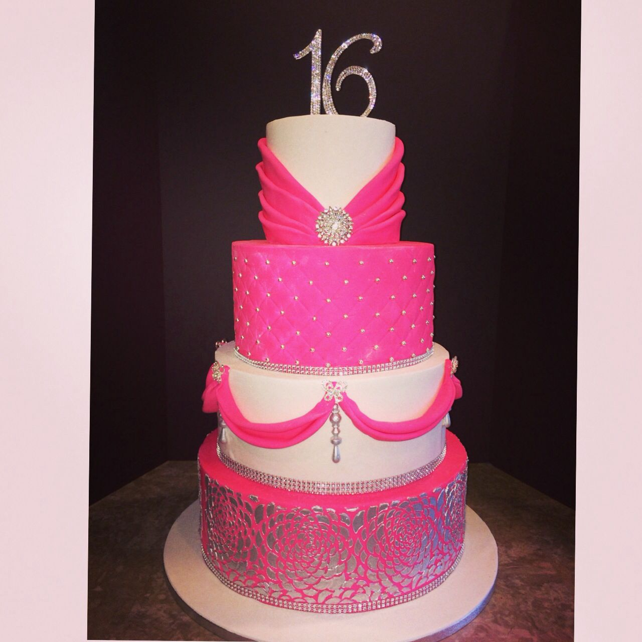 Pink Sweet 16 Cakes