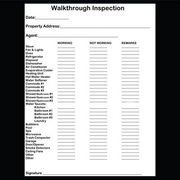 Checklist For Property Inspection Walkthrough In 2019