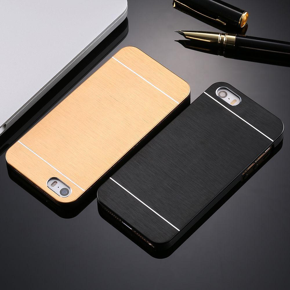 Luxus fest aluminium metall weicher tpu feld-fall für apple iphone 5 5 S SE 6 6 S 7 Plus Telefon Zubehör Hard Cover Für iphone7