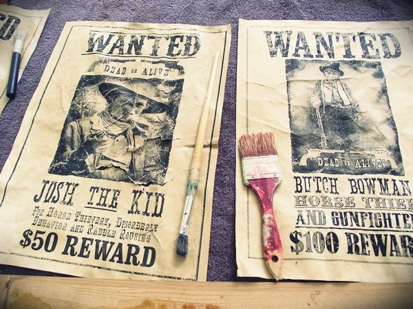 Printable Wanted Posters Unique Wanted Posters  Greatfun4Kids Wild West Party How To's With Free .