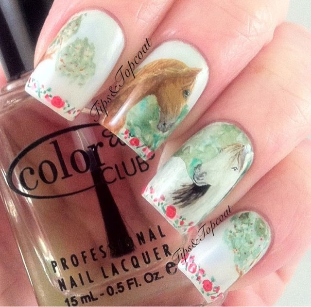 Tips and Topcoat: Horse Nail Art - My First Of 'Real Life' Animals - Tips And Topcoat: Horse Nail Art - My First Of 'Real Life' Animals