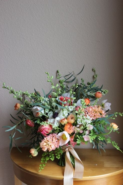 Spring flower inspiration for a peachcoral wedding pinterest peach coral bouquet sophisticated floral portland oregon mightylinksfo