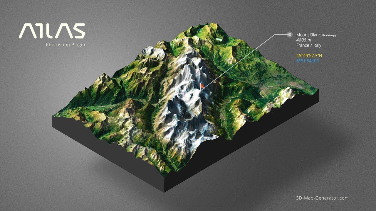 From Google Maps to 3D Map in Photoshop - 3D Map Generator