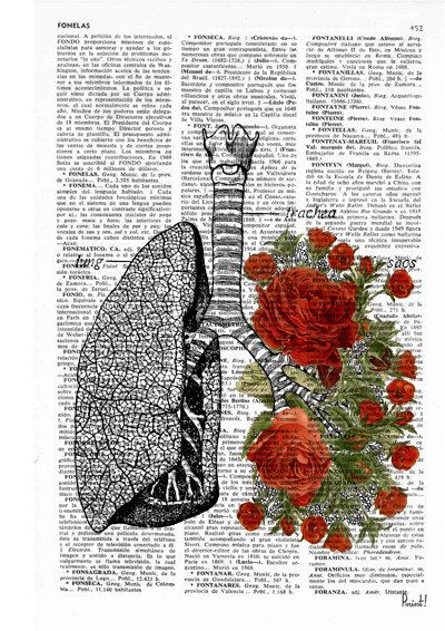 Photo of Lungs with red roses human Anatomy Print – Anatomy art gift, love art, human anatomy art, lungs and roses art SKA064