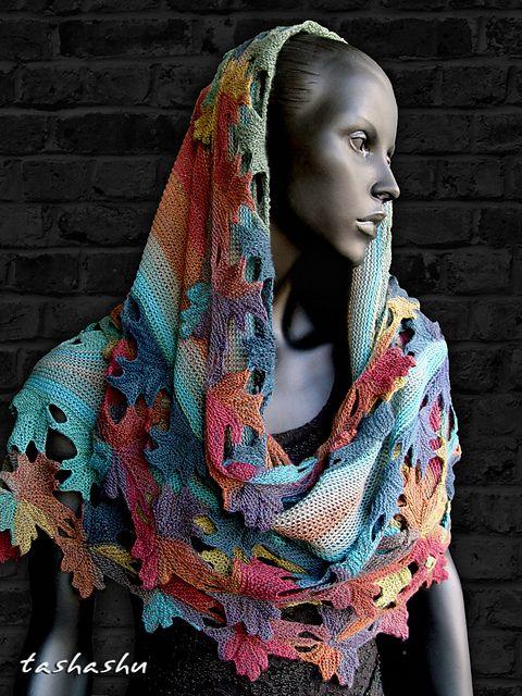 Knitted shawl Autumn Lace pattern by Svetlana Gordon | Tücher ...