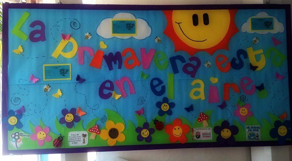 Periodico mural decorado del mes de marzo peri dicos for Contenido del periodico mural