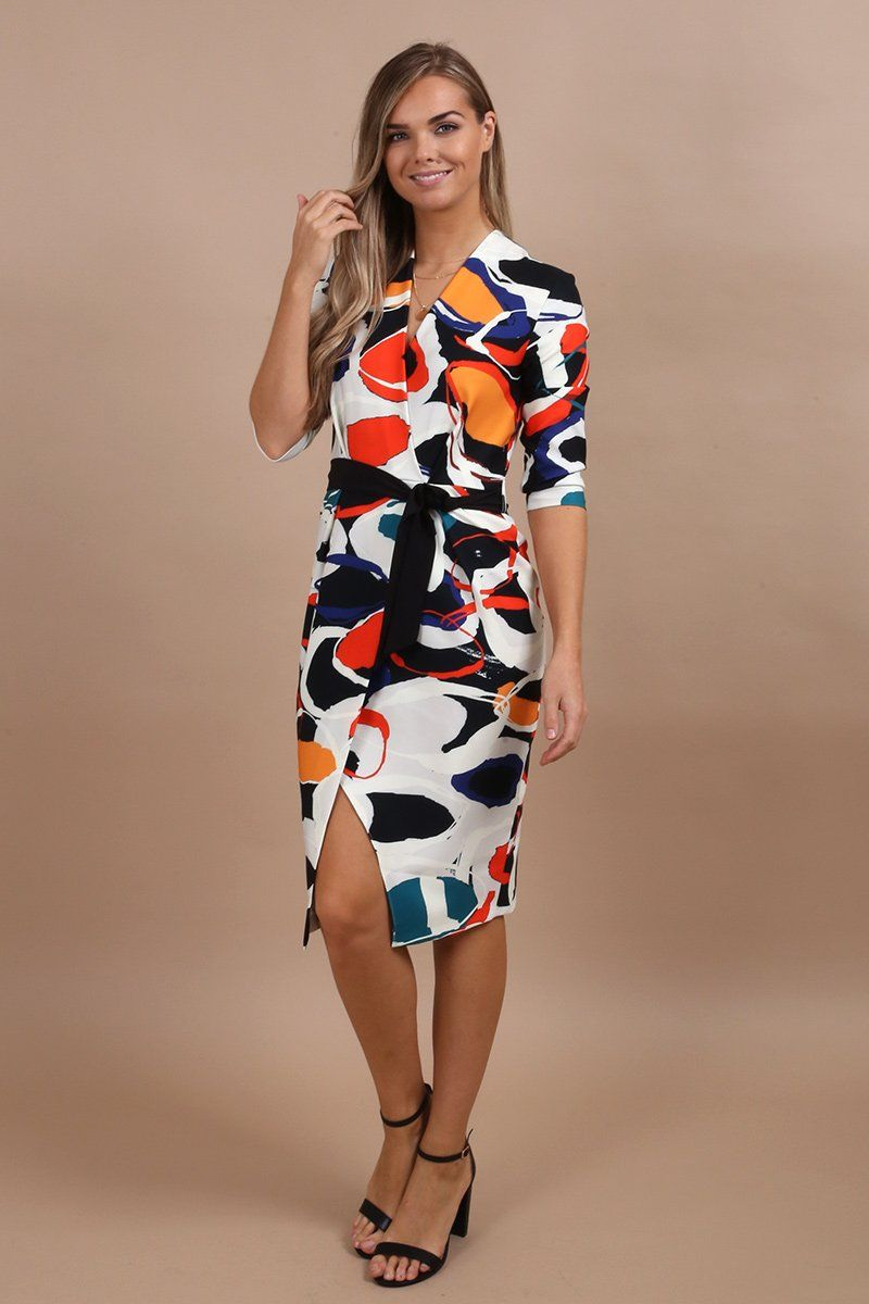 b4026e07991 I love this sophisticated and elegant Wrap Pencil Dress. This is flattering  on all shapes