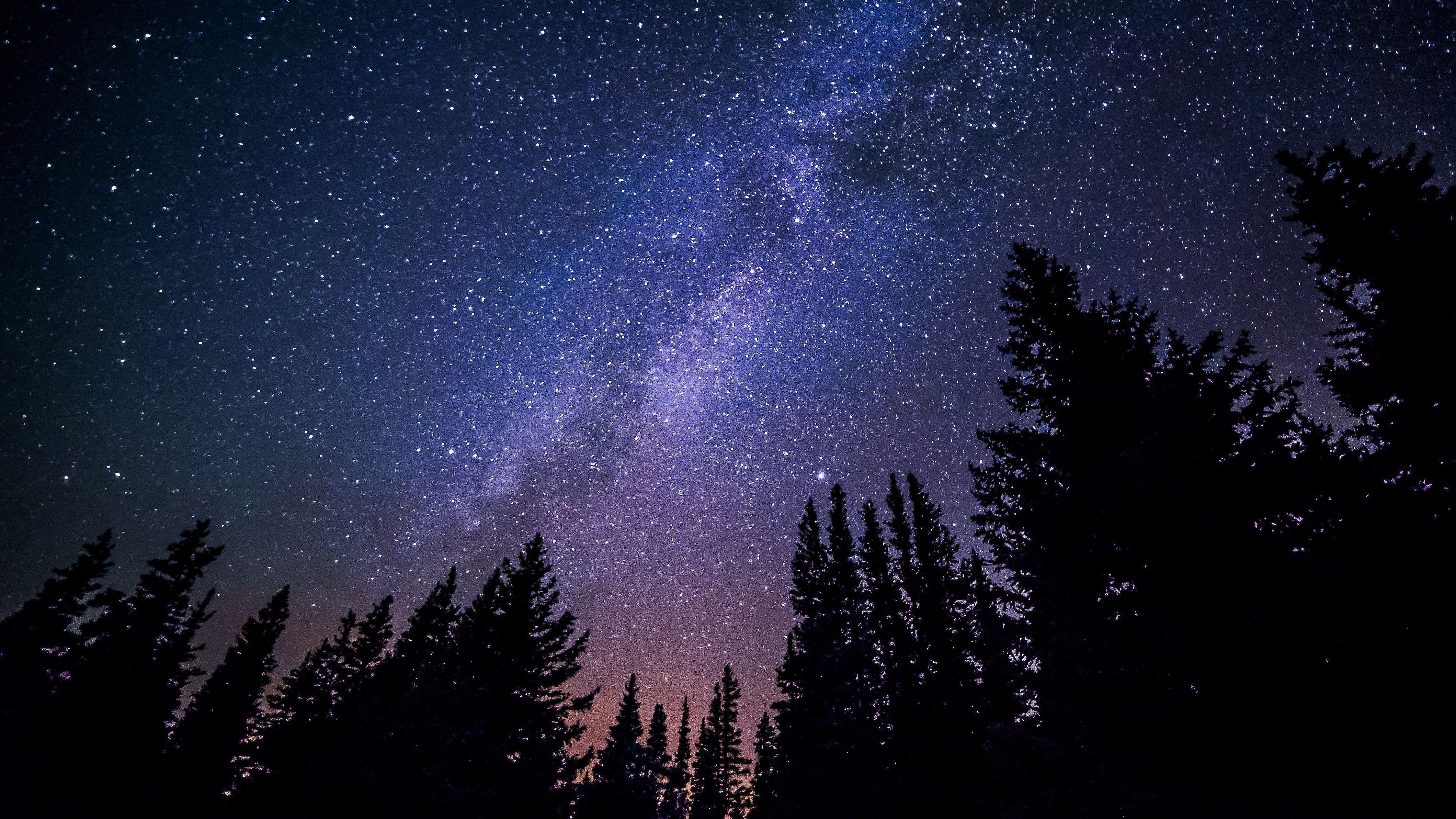 Night Sky Stars Background Nighttime Sky Night Sky Stars Milky Way Photos