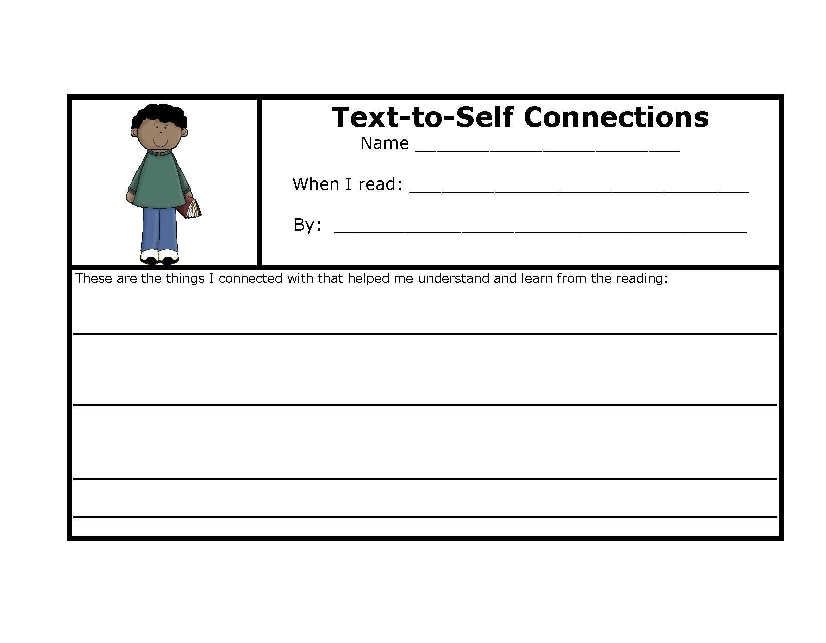 worksheet Making Connections Worksheets 10 best images about reading making connections on pinterest anchor charts texts and charts