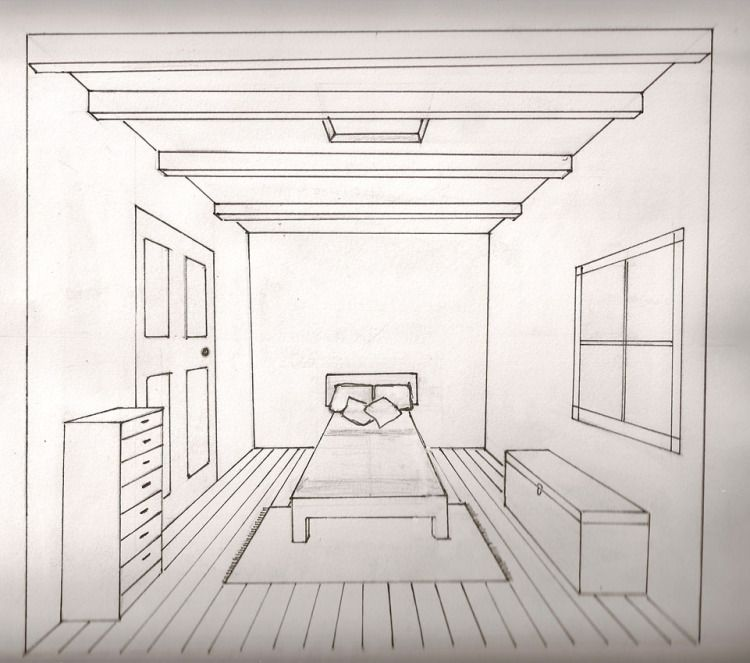 Image Result For How To Draw One Point Perspective Room Party Scene Sketsa