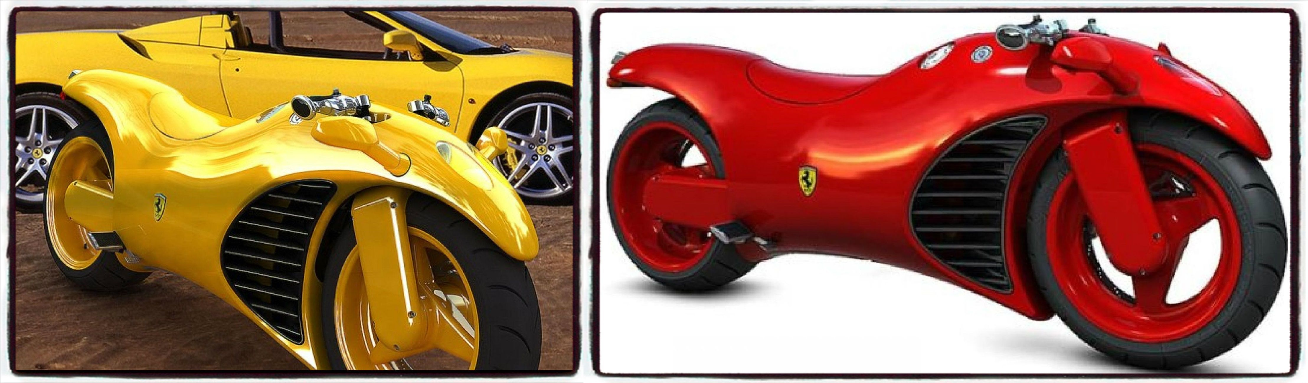 This Concept Ferrari V4 Motorcycle combines elements of a Ferrari 4 ...