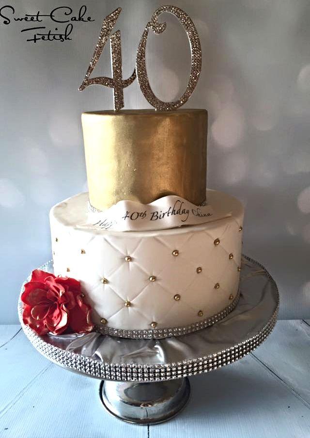Tremendous Classy 40Th Cake Cake 40Th Birthday Cakes Birthday Cakes For Men Funny Birthday Cards Online Overcheapnameinfo