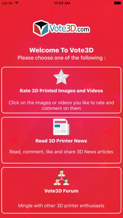 #3dprinting #3dprinter #3dprint #3dprinted #3dprints #vote #vote3D #join #free #community #rate #news #forum #ios #android #app #apps